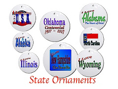 State and USA Ornaments