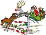 Santa Jumping Horse Jump