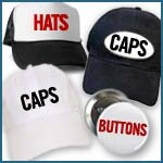 Info Hats, Buttons etc.