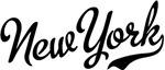 New York Script Black