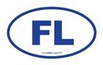 Florida FL Euro Oval BLUE