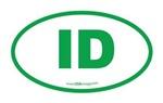 Idaho ID Euro Oval GREEN