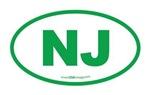 New Jersey NJ Euro Oval GREEN