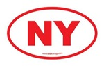 New York NY Euro Oval RED