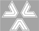 White Triangles Logo