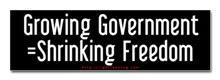 Growing Govt = Shrinking Freedom