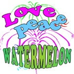 Love Peace Watermelon