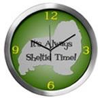 SHELTIE TIME Wall Clocks
