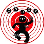 Chuck Ninja Man Throwing Stars Target Board
