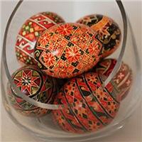 Eggs in Glass Vessel