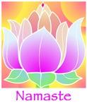 Bejeweled Lotus Flower Namaste Greeting