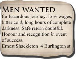 Shackleton Ad - Shirts and Other Clothing