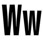 W Helvetica Alphabet