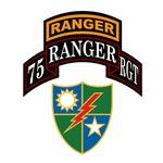 75th Ranger Regiment w/Crest