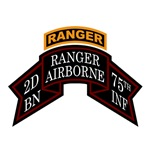 2nd Ranger Bn Old Scroll w/Tab