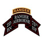 2nd Ranger Bn Old Scroll w/Tab