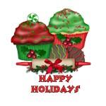 Happy Holidays Cupcakes