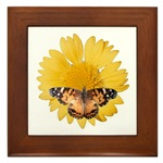 Framed Tiles of Butterflies and Flowers