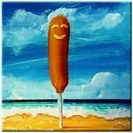 Corn Dog At The Beach