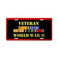 World War II Veteran License Plates