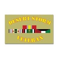 Gulf War Vet All Branch Stickers