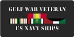 Navy Ships Gulf War Veteran License Plates/Mugs