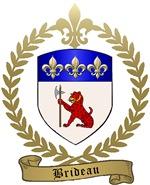 BRIDEAU Family Crest