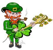 Irish Leprechaun Plays Guitar