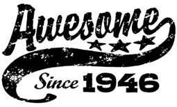 Awesome Since 1946 t-shirt
