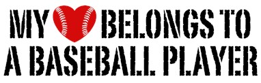 My Heart Belongs To A Baseball Player t-sh