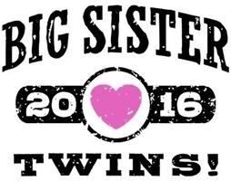 Big Sister Twins 2016 t-shirt