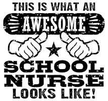 Awesome School Nurse t-shirts