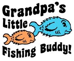 Grandpa's Little Fishing Buddy t-shirt