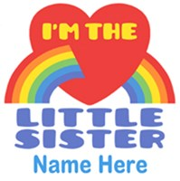 I'm The Little Sister Personalized t-shirt