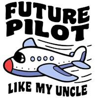 Future Pilot Like My Uncle t-shirt