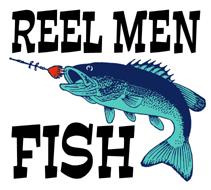 Reel Men Fish t-shirt
