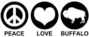 Peace Love Buffalo t-shirts