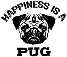 Happiness Is A Pug t-sh