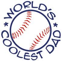 World's Coolest Baseball Dad t-shirt