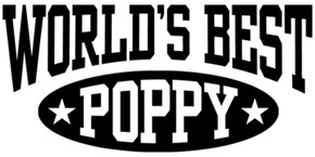 World's Best Poppy t-shirts