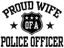 Proud Wife of a Police Officer t-shirts