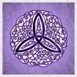 Lavender Celtic Trinity Knot
