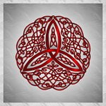 Red Celtic Trinity Knot