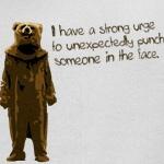 Wicker Man Bear Suit Punch