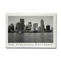 sf bay magnets - black + white urban skyline