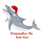 Personalized Christmas Dolphin