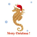 Personalized Christmas Seahorse