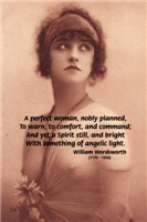 Poetry Perfect Woman Wordsworth Quote Vintage Art