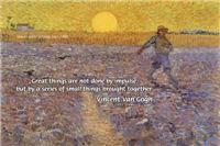 Vincent Van Gogh: Sower Setting Sun Painting
