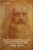 Leonardo da Vinci self Portrait & Wise Quote